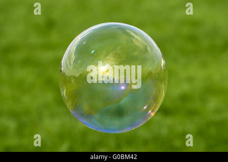Bubble - iridescent beauty - Stock Photo