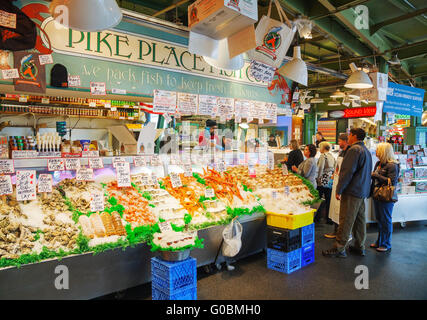 Fish stand pike place market seattle washington usa for Famous fish market in seattle
