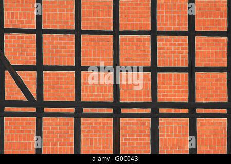 Timbered wall - Stock Photo