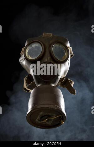 Vintage Gas Mask Isolated - Stock Photo