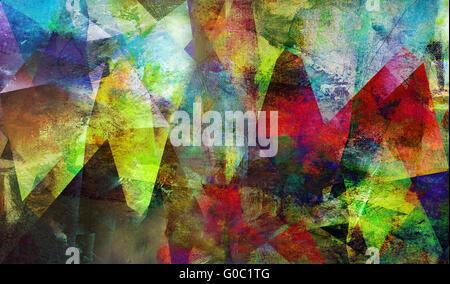 abstract polygonal mixed media - Stock Photo
