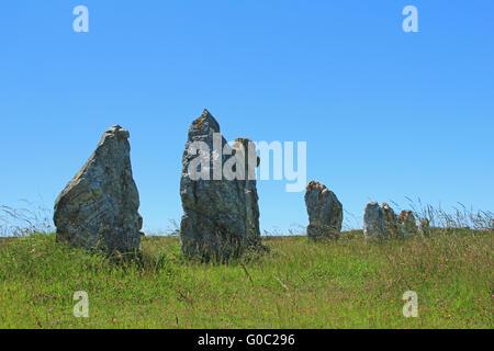 Alignments de Lagatjar, France - Stock Photo