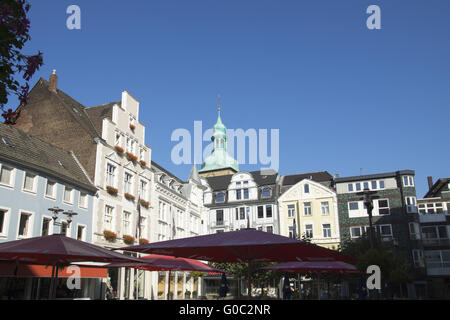 Buildings at the market place in Recklinghausen, G - Stock Photo
