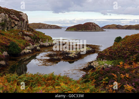Coastal scenery, South Uist, Hebrides, Scotland - Stock Photo