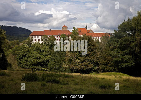 Castle and Abbey Iburg, Germany - Stock Photo
