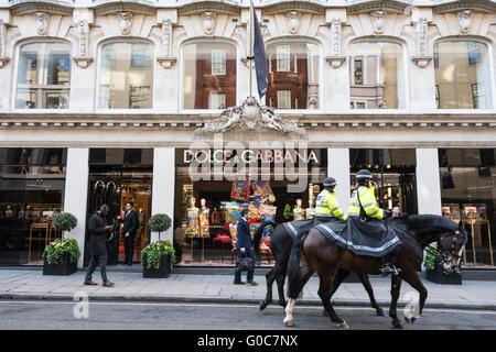 The Dolce & Gabbana store on Old Bond Street, London, UK - Stock Photo