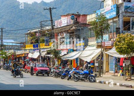 Lakeside in Pokhara, Nepal - Stock Photo