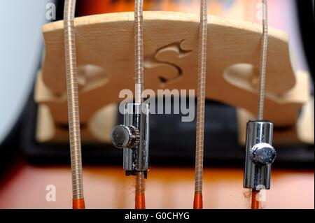 Detail electric double Bass - Stock Photo