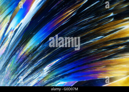 Microcrystals in polarized Light - Stock Photo