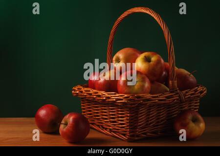 Apples in basket - Stock Photo