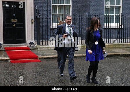 Peter Souza, Chief White House photographer for President Barack Obama, 10 Downing St. London. April 2016. - Stock Photo