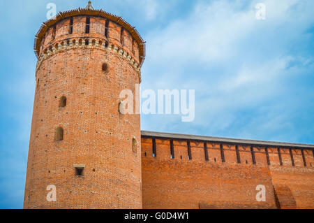 A part of Kolomna's Kremlin in historic center of Kolomna - Stock Photo