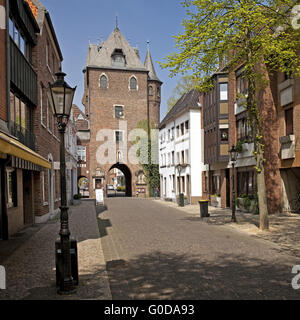 view at the Kuhtor, Kempen, Germany - Stock Photo