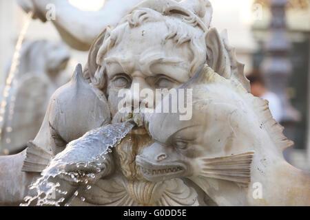 Rome Fountain - Stock Photo
