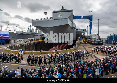 NAming Ceremony of Aircraft Queen Elizabeth - Stock Photo