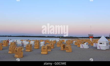 Beach Chairs on the Baltic Sea - Stock Photo