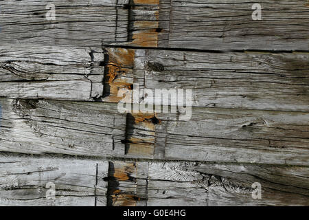 weathered wooden beams - Stock Photo