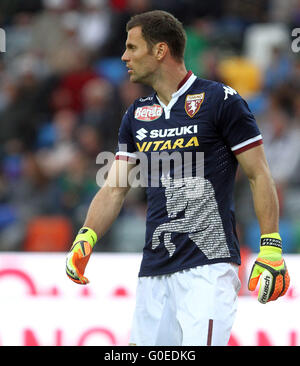 Udine, Italy. 30th April, 2016. Torino's goalkeeper Daniele Padelli looks during the Italian Serie A football match - Stock Photo