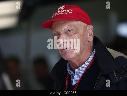 Sochi, Russia. 1st May, 2016. Three times F1 World Champion, Austrian former Formula One driver Niki Lauda ahead - Stock Photo
