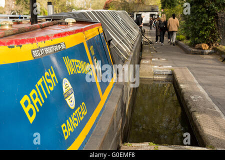 London, UK. 1st May, 2016. Canal boats gather at Little Venice on the Grand Union Canal for the Inland Waterways - Stock Photo
