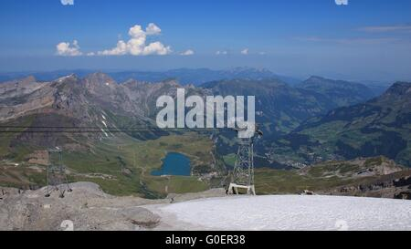 View From Mt Titlis towards Engelberg - Stock Photo