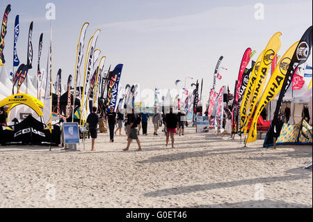 kitesurf world cup at the beach of st peter ording germany stock photo royalty free image. Black Bedroom Furniture Sets. Home Design Ideas