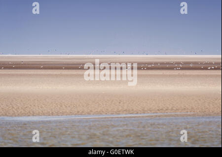 On the Beach of St. Peter-Ording in Germany - Stock Photo