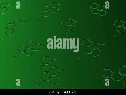 Background with structural chemical formulas - Stock Photo