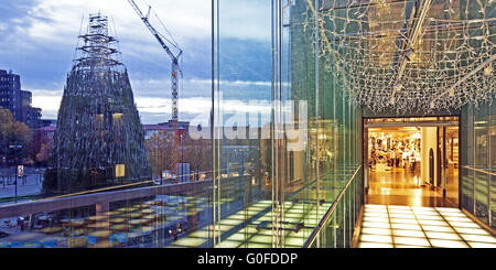 Christmas Department, Store building transition, Dortmund - Stock Photo