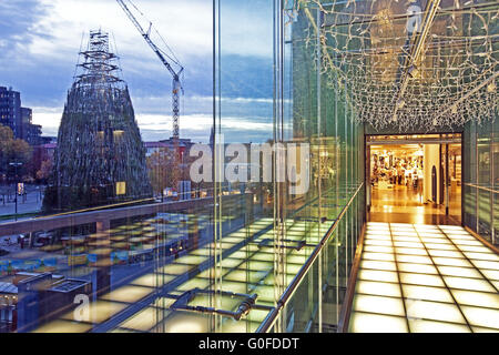 Christmas Department, Store building transition, Dortmund - Stock Photo