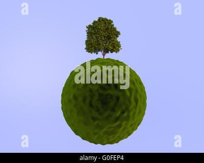 Green planet, conceptual artwork - Stock Photo