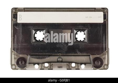 Vintage transparent compact cassette - Stock Photo