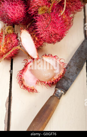 fresh rambutan fruits - Stock Photo