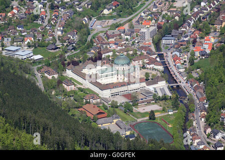 Dome and Parish of St. Blasien in the Black Forest - Stock Photo
