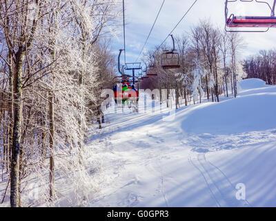 scenery around timberline ski resort west virginia - Stock Photo