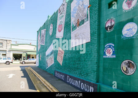 Mount Airy Mural - Stock Photo