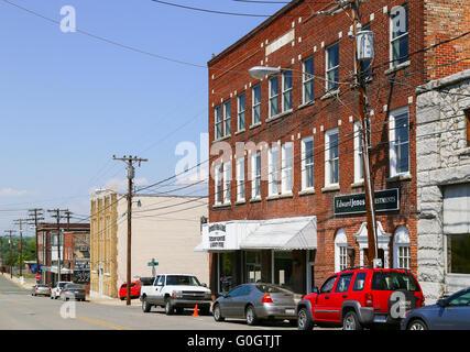 Mount Airy Brick Buildings - Stock Photo