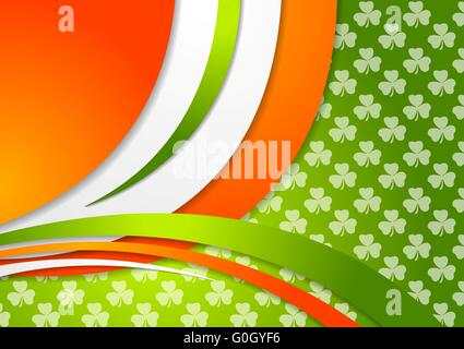 St. Patrick Day background with Irish colors - Stock Photo