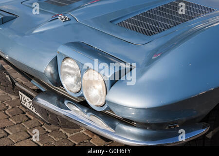 south tyrol classic cars 2015 Chevrolet Corvette Coupe Scheinwerfer - Stock Photo