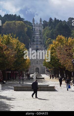 Santuário de Nossa Senhora dos Remédios in Lamego,Portugal - Stock Photo