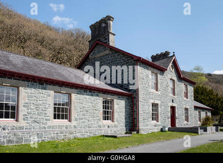 Old Quarry Hospital Visitor Centre is part of the Welsh National Slate Museum in Padarn Country Park. Llanberis - Stock Photo