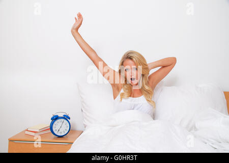 Wake up and leave. Bet the morning in good spirits - Stock Photo