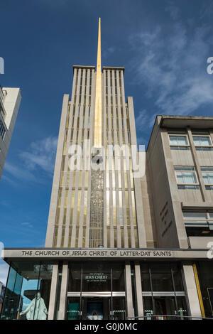 The Mormon Church of Jesus Christ of Latter-Day Saints, South Kensington, London, England,UK. - Stock Photo