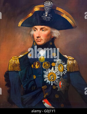 Lord Nelson. Portrait of Rear-Admiral Sir Horatio Nelson (1758-1805) by Lemuel Francis Abbot, oil on canvas, 1799. - Stock Photo