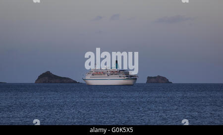 Torbay, Devon, UK, 02 May 2016. The German cruise liner MS Albatros, on a 9 day cruise, visits Torquay in Devon - Stock Photo