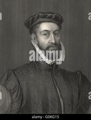 James Stewart, 1st Earl of Moray, c. 1531-1570, was Regent of Scotland - Stock Photo