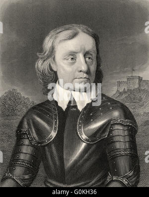 Oliver Cromwell, 1599-1658, Lord Protector of England, Scotland and Ireland, commander of the parliamentary army - Stock Photo