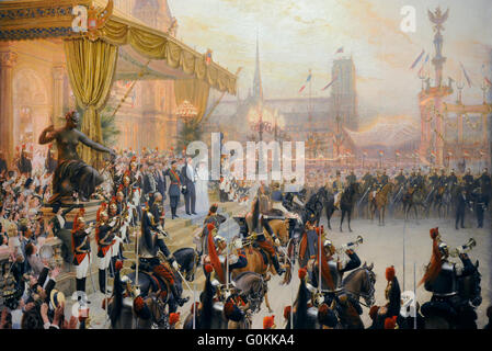 Georges Becker (1845-1909). French painter. Ceremonial Reception of Nicholas II in Paris, Ca. 1896-1897. Oil on - Stock Photo