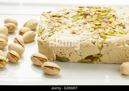 pistachio halva - Stock Photo