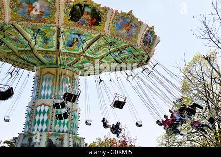 View of jardin d'acclimatation in Paris - Stock Photo